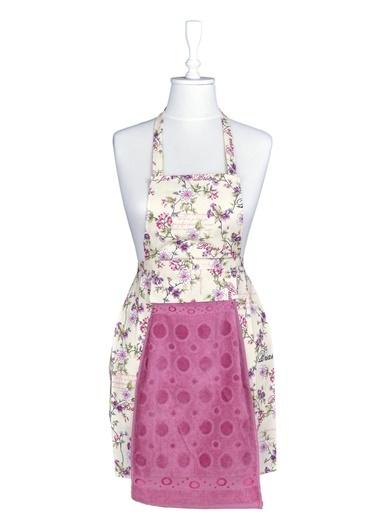Minteks 2'li Mutfak Önlüğü Takımı - Çiçek Renkli